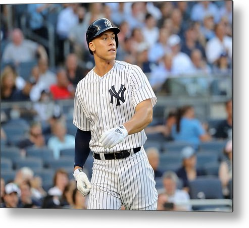 Three Quarter Length Metal Print featuring the photograph Aaron Judge by Elsa