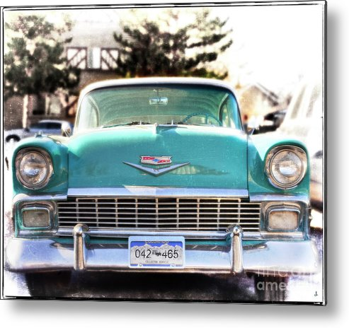 Fine Art Photography Metal Print featuring the photograph 1957 Chevy Belair by John Strong