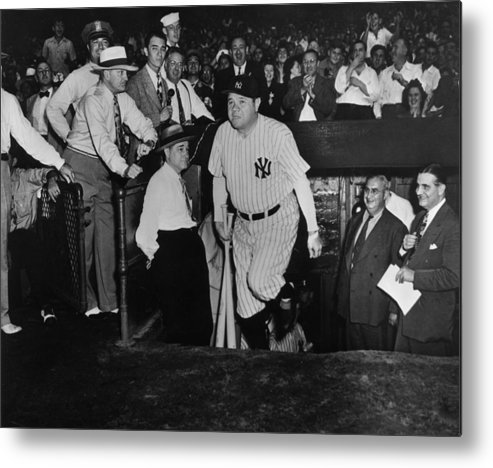 Crowd Metal Print featuring the photograph Babe Ruth by American Stock Archive