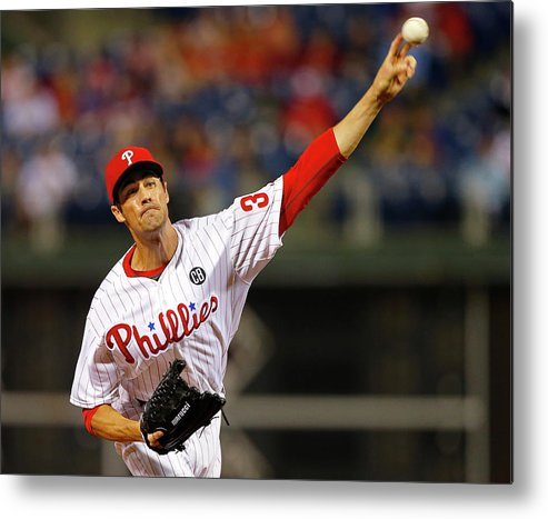 People Metal Print featuring the photograph Cole Hamels by Rich Schultz