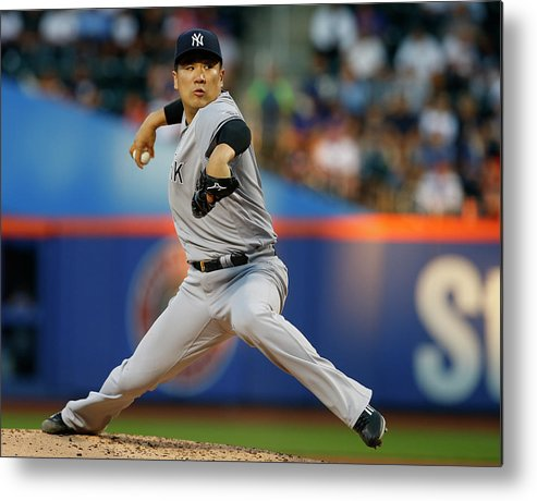Second Inning Metal Print featuring the photograph Masahiro Tanaka by Rich Schultz