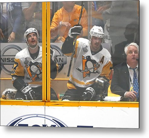 Playoffs Metal Print featuring the photograph 2017 NHL Stanley Cup Final - Game Three by Justin K. Aller
