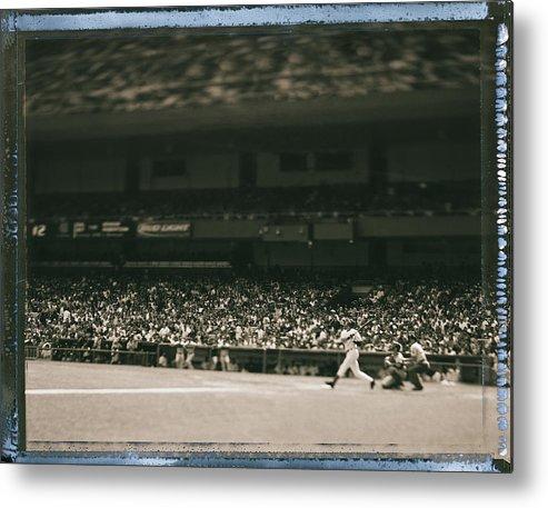 American League Baseball Metal Print featuring the photograph Derek Jeter by Al Bello