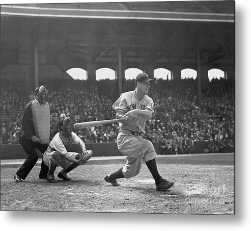 People Metal Print featuring the photograph Lou Gehrig by National Baseball Hall Of Fame Library