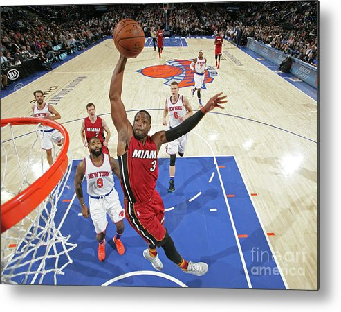 Nba Pro Basketball Metal Print featuring the photograph Dwyane Wade by Nathaniel S. Butler
