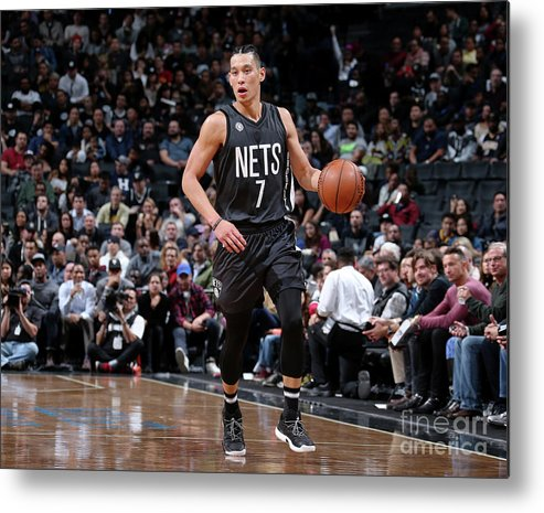 Nba Pro Basketball Metal Print featuring the photograph Jeremy Lin by Nathaniel S. Butler