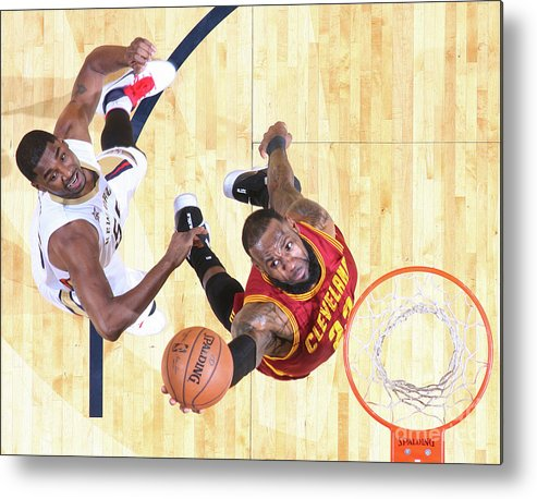 Smoothie King Center Metal Print featuring the photograph Lebron James by Layne Murdoch