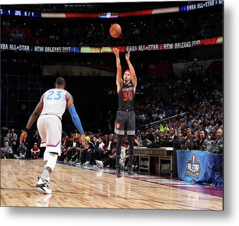 Event Metal Print featuring the photograph Stephen Curry by Nathaniel S. Butler