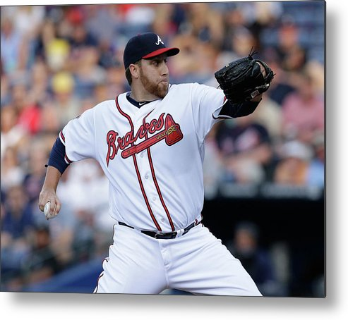 Atlanta Metal Print featuring the photograph Aaron Harang by Mike Zarrilli