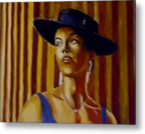 Portrait Metal Print featuring the painting Alica by Andrew Johnson