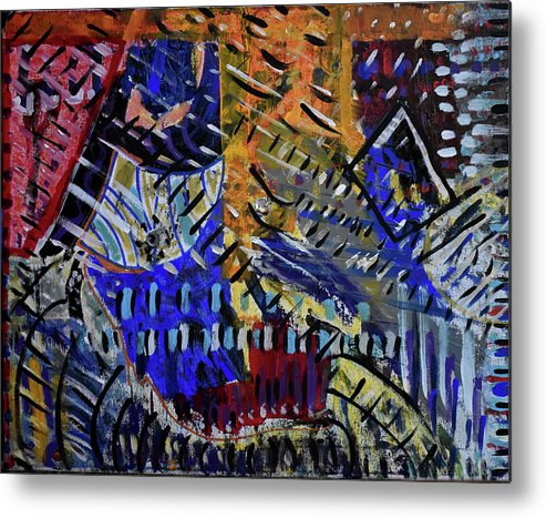 Colorado Metal Print featuring the painting And Then It Rained by Pam Roth O'Mara