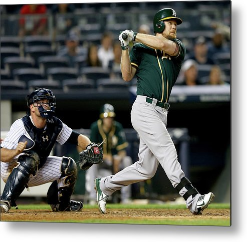 Brian Mccann Metal Print featuring the photograph Brian Mccann and Brandon Moss by Elsa