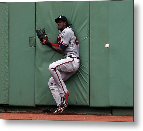 People Metal Print featuring the photograph Cameron Maybin and Mookie Betts by Jim Rogash