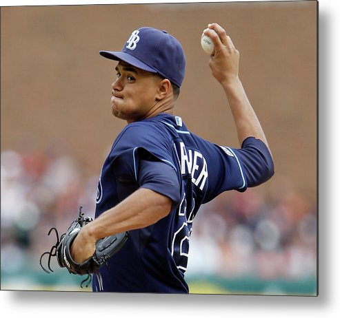 American League Baseball Metal Print featuring the photograph Chris Ray by Duane Burleson