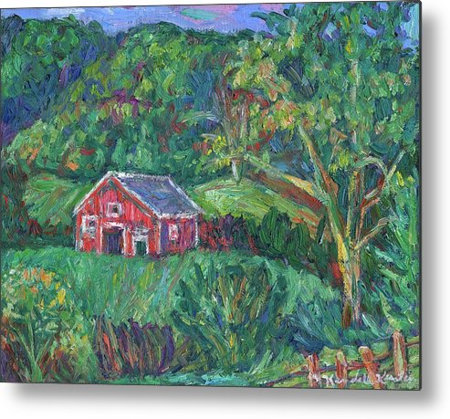 Rural Metal Print featuring the painting Clover Hollow in Giles County by Kendall Kessler