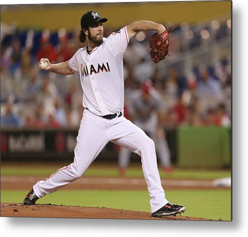 People Metal Print featuring the photograph Dan Haren by Rob Foldy