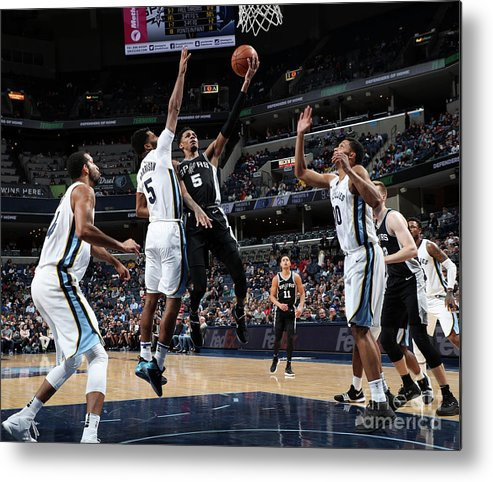 Nba Pro Basketball Metal Print featuring the photograph Dejounte Murray by Joe Murphy