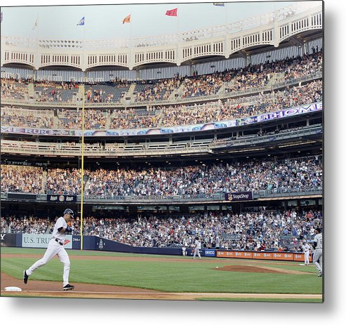 People Metal Print featuring the photograph Derek Jeter and Curtis Granderson by Elsa