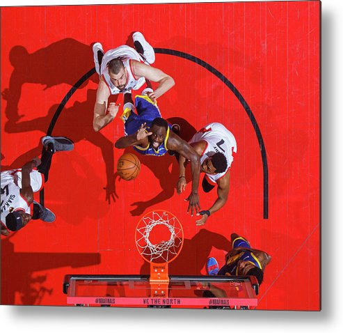 Playoffs Metal Print featuring the photograph Draymond Green by Mark Blinch
