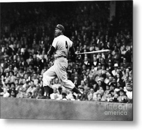 Following Metal Print featuring the photograph Duke Snider by Robert Riger