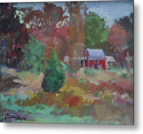 Impressionism Metal Print featuring the painting Eastern Shore Hideaway by Betty Jean Billups