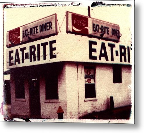 Polaroid Transfer Metal Print featuring the photograph Eat Rite by Jane Linders