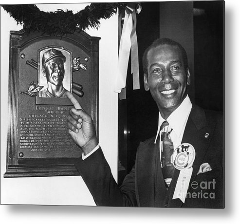 People Metal Print featuring the photograph Ernie Banks by National Baseball Hall Of Fame Library