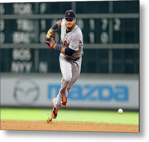 American League Baseball Metal Print featuring the photograph Eugenio Suarez by Bob Levey