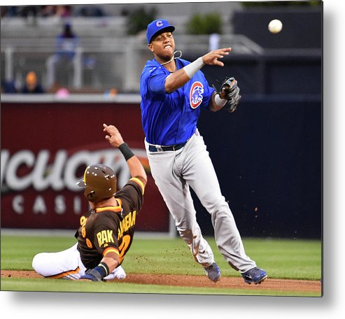 Double Play Metal Print featuring the photograph Everth Cabrera and Starlin Castro by Denis Poroy