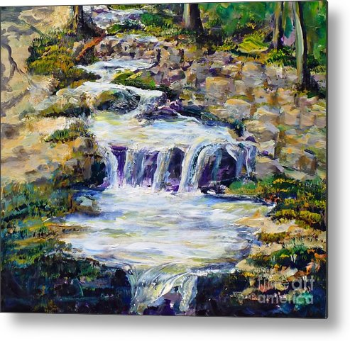 Los Angeles Metal Print featuring the painting Fern Dell Creek Noon by Randy Sprout