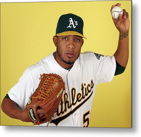 Media Day Metal Print featuring the photograph Fernando Abad by Christian Petersen