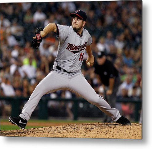 Ninth Inning Metal Print featuring the photograph Glen Perkins by Duane Burleson