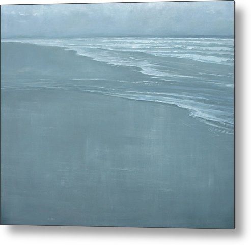 Metal Print featuring the painting Glint by Mary Jo Van Dell