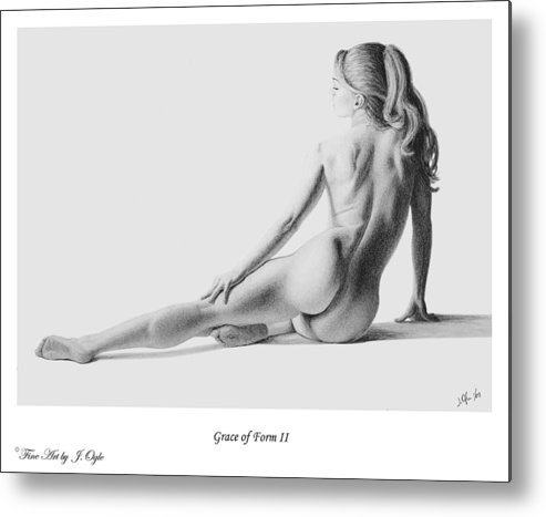 Pastel Metal Print featuring the painting Grace Of Form 2  print only by Joseph Ogle