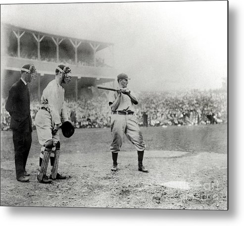 Home Base Metal Print featuring the photograph Honus Wagner by National Baseball Hall Of Fame Library