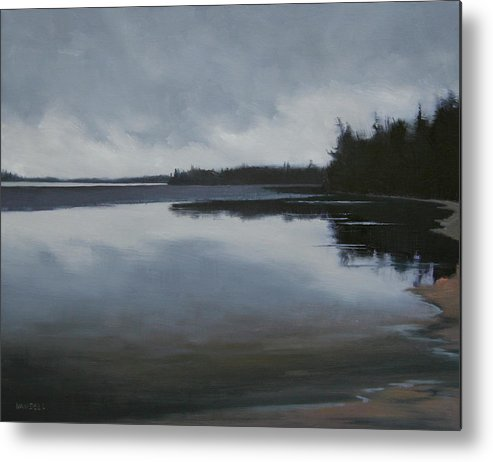 Metal Print featuring the painting Ice Out by Mary Jo Van Dell