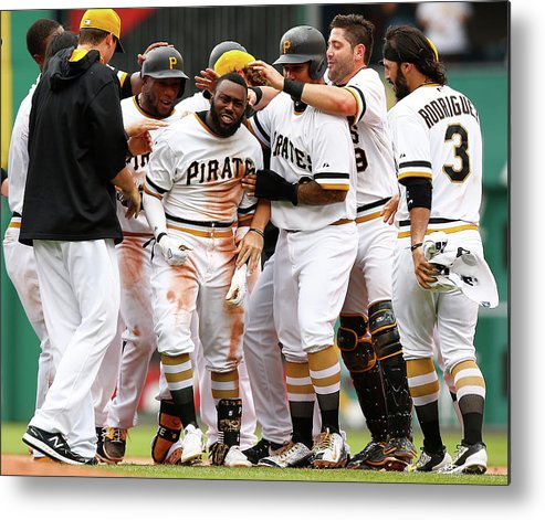People Metal Print featuring the photograph Josh Harrison by Jared Wickerham