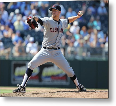 American League Baseball Metal Print featuring the photograph Josh Outman by Ed Zurga