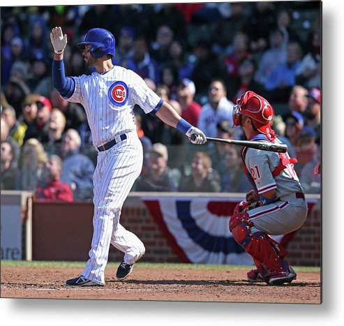National League Baseball Metal Print featuring the photograph Justin Ruggiano by Jonathan Daniel