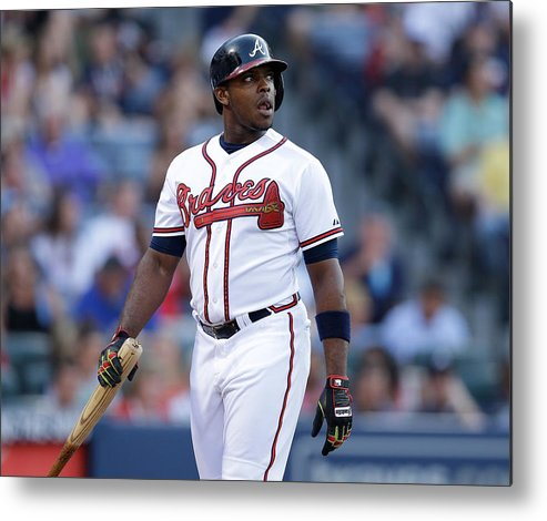 Atlanta Metal Print featuring the photograph Justin Upton by Mike Zarrilli