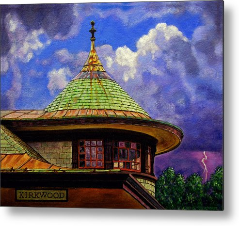 Kirkwood Metal Print featuring the painting Kirkwood Train Station by John Lautermilch
