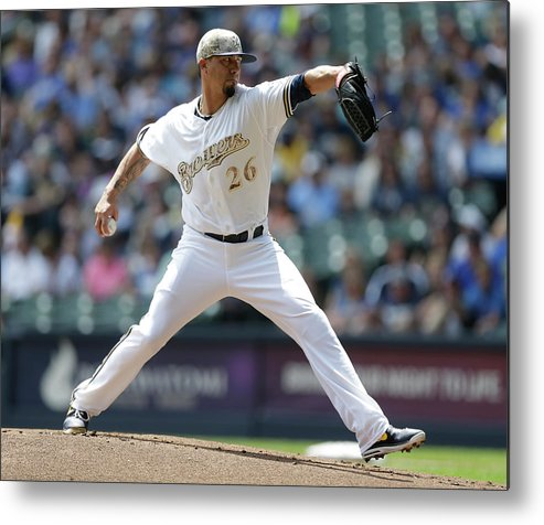 American League Baseball Metal Print featuring the photograph Kyle Lohse by Jeffrey Phelps