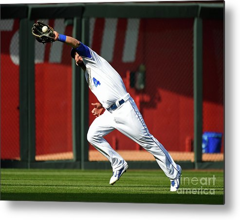 People Metal Print featuring the photograph Michael Conforto and Alex Gordon by Ed Zurga