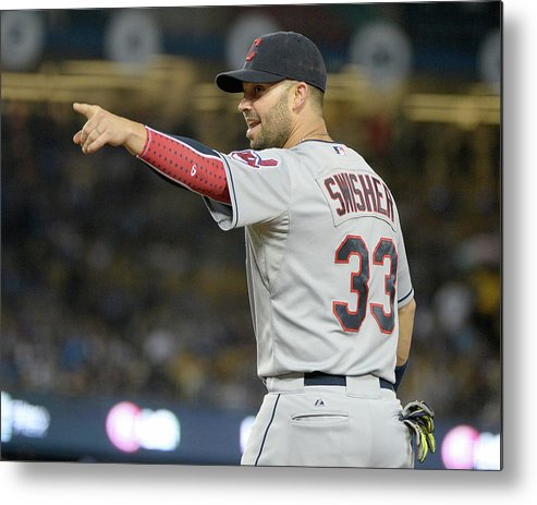 American League Baseball Metal Print featuring the photograph Nick Swisher by Harry How