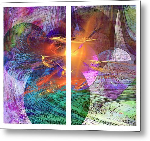 Ocean Fire Metal Print featuring the digital art Ocean Fire by John Robert Beck