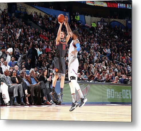 Event Metal Print featuring the photograph Paul George and Klay Thompson by Nathaniel S. Butler