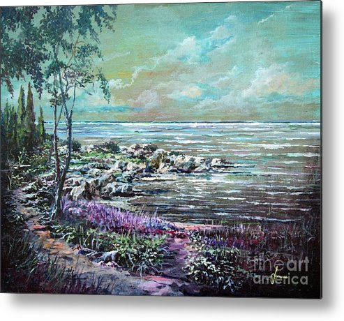 Nature Metal Print featuring the painting Reflections by Sinisa Saratlic