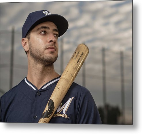 Media Day Metal Print featuring the photograph Ryan Braun by Rob Tringali