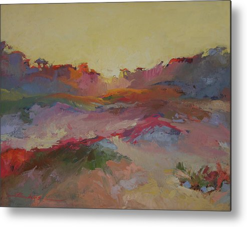 Sand Dunes Metal Print featuring the painting Sand Dunes by Betty Jean Billups