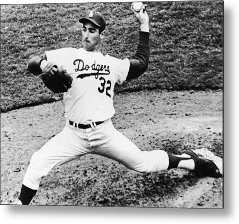 Sandy Koufax Metal Print featuring the photograph Sandy Koufax by American Stock Archive